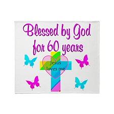 GOD LOVING 60TH Throw Blanket