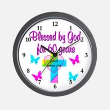 GOD LOVING 60TH Wall Clock
