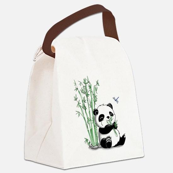 Panda Eating Bamboo Canvas Lunch Bag