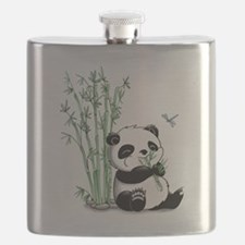 Panda Eating Bamboo Flask