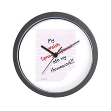 Welsh Springer Homework Wall Clock