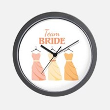Team BRIDE Wall Clock