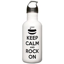 Keep Calm and Rock On  Water Bottle