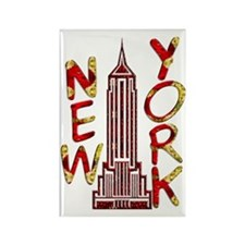 Empire State Building 2f Rectangle Magnet