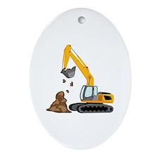 Excavator Ornament (Oval)