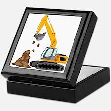 Excavator Keepsake Box