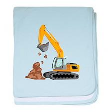 Excavator baby blanket
