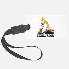 Excavator Luggage Tag