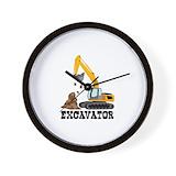 Excavator Wall Clocks