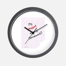 Whippet Homework Wall Clock