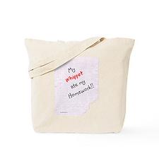 Whippet Homework Tote Bag