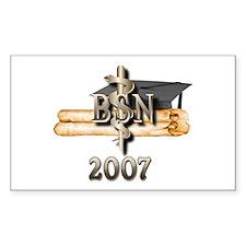 BSN Grad 2007 Rectangle Decal