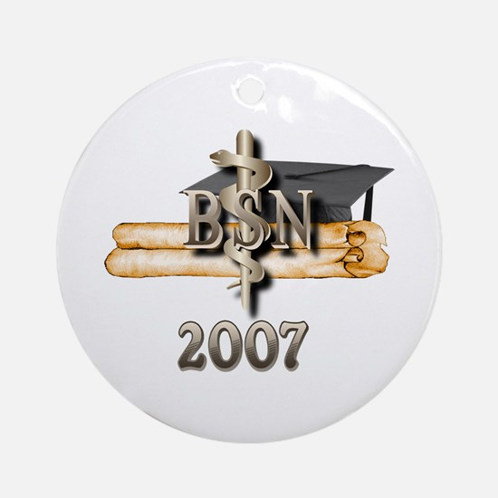 BSN Grad 2007 Ornament (Round)