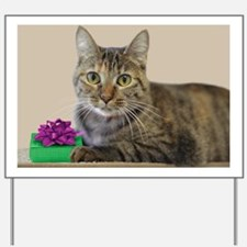 Cat with Gift Yard Sign