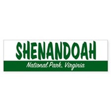 Shenandoah National Park Bumper Car Sticker