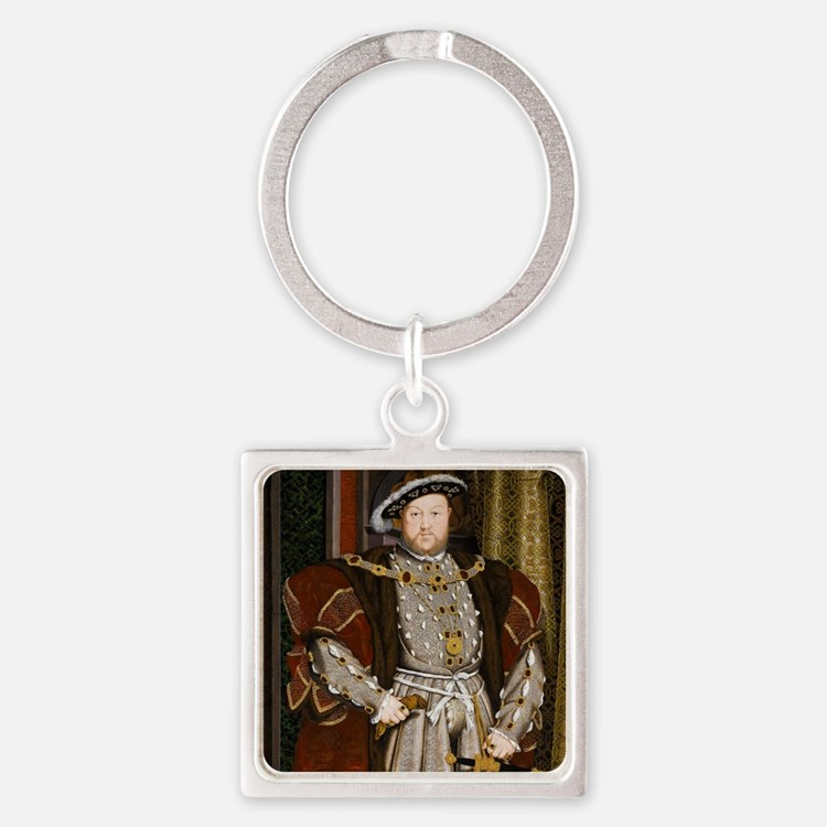 Henry VIII. Square Keychain
