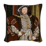 Henry viii Throw Pillows