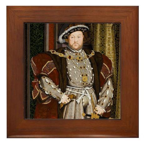 Henry VIII. Framed Tile