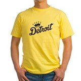 Detroit city Mens Yellow T-shirts