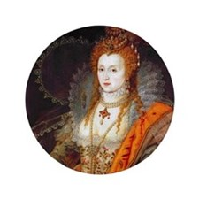"Queen Elizabeth I 3.5"" Button"