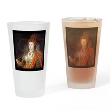 Queen Elizabeth I Drinking Glass