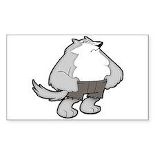 Werewolf Rectangle Decal