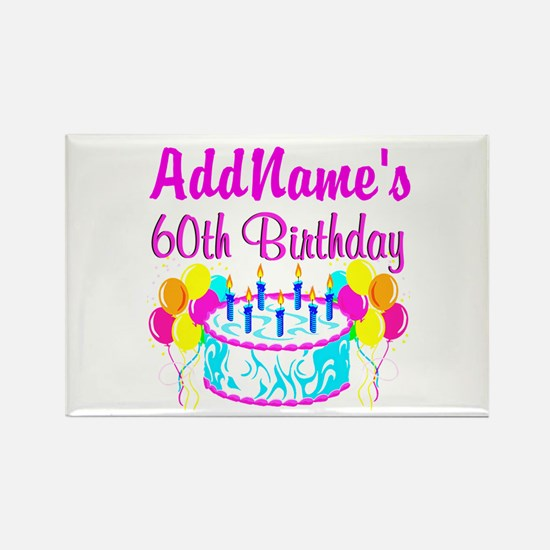AWESOME 60TH Rectangle Magnet