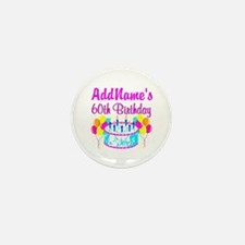 AWESOME 60TH Mini Button (10 pack)
