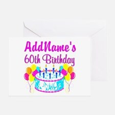 AWESOME 60TH Greeting Card