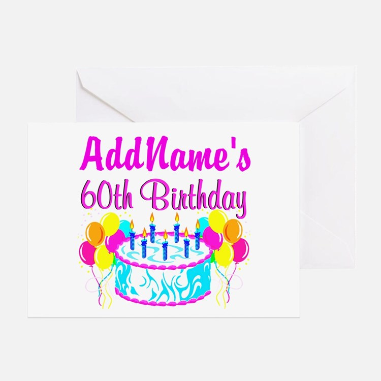 Sayings For 60th Birthday Card: 60th Birthday Party Greeting Cards
