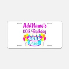 AWESOME 60TH Aluminum License Plate