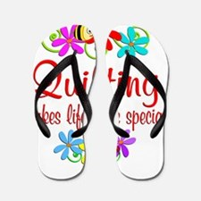 Quilting is Special Flip Flops