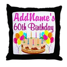 AMAZING 60TH Throw Pillow