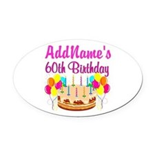 AMAZING 60TH Oval Car Magnet