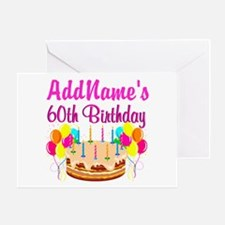 AMAZING 60TH Greeting Card