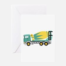 Concrete Truck Greeting Cards