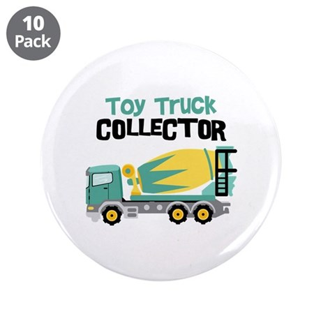 "Toy Truck Collector 3.5"" Button (10 pack)"