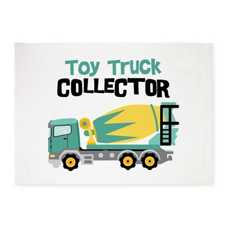 Toy Truck Collector 5'x7'Area Rug