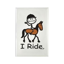 English Horse Riding Rectangle Magnet (10 pack)