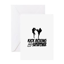 kickboxing is my superpower Greeting Card