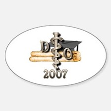 Osteopathic Grad Oval Decal