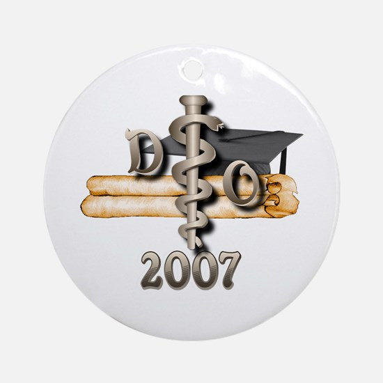 Osteopathic Grad Ornament (Round)