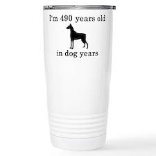 70 birthday dog years doberman 2 Travel Mug