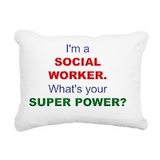 I'm a Social Worker. Wha Rectangular Canvas Pillow
