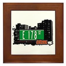 E 178 St, Bronx, NYC Framed Tile
