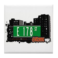 E 178 St, Bronx, NYC Tile Coaster