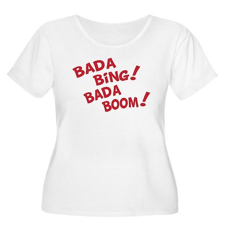Bada Boom Women's Plus Size Scoop Neck T-Shirt
