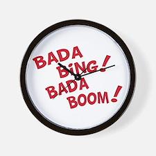 Bada Boom Wall Clock