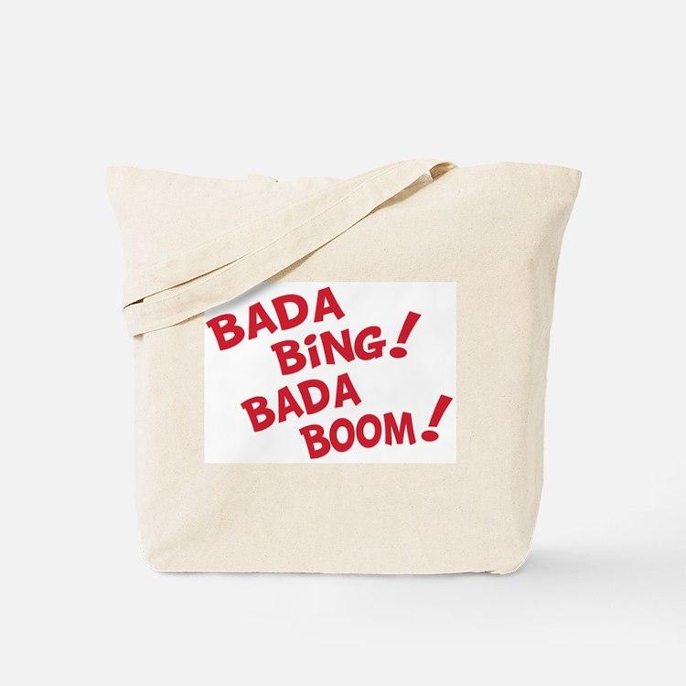 bada bing bags totes personalized bada bing reusable bags cafepress. Black Bedroom Furniture Sets. Home Design Ideas