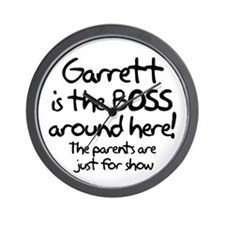 Garrett is the Boss Wall Clock